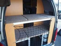 リア二段ベッド付き!上段160cm×63cm 下段169cm×60cm