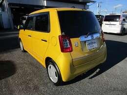 N-ONEの左リヤビュー UV&プライバシーガラスで、車内の紫外線&プライバシーをシャットアウト