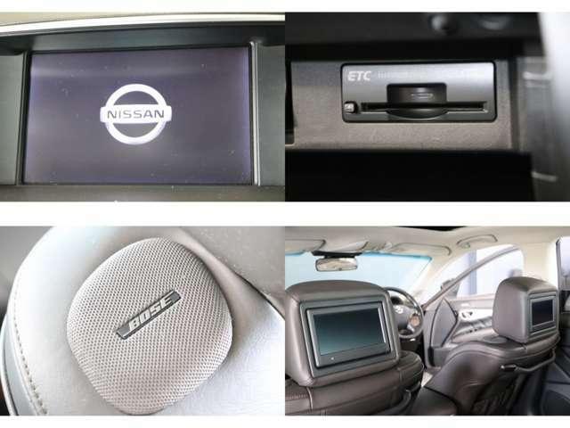 純正HDDナビ BOSEサウンド フルセグTV DVD・CD再生 Bluetooth接続 アラウンドビューカメラ ETC プライベートシアター