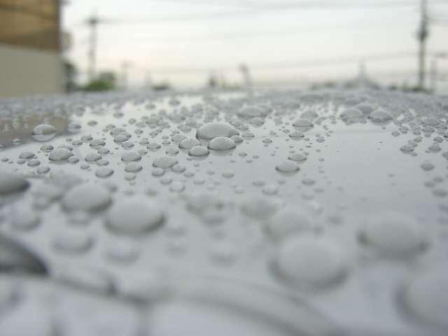水で濡らすとコーティングが掛かっているのが、良く分かると思います