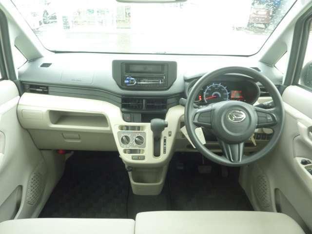 ハンドル周り:運転席からての届く範囲に書くスイッチが配置されています。