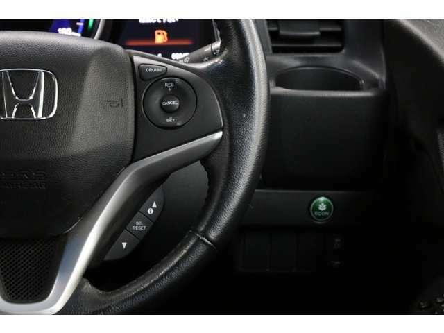 クルーズコントロールも上級グレードならではの装備ですね。高速道路では快適になることでしょう。