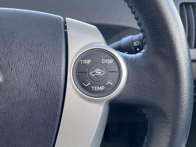 ハンドル右側はエアコン操作ができます♪