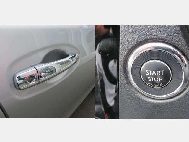 【インテリジェントキー&プッシュスタート】リモコンをバッグに入れたり、持ったままでも、ドアノブのボタンを押せば施錠・解錠が出来たり、プッシュボタンでエンジンスタート・ストップができます☆