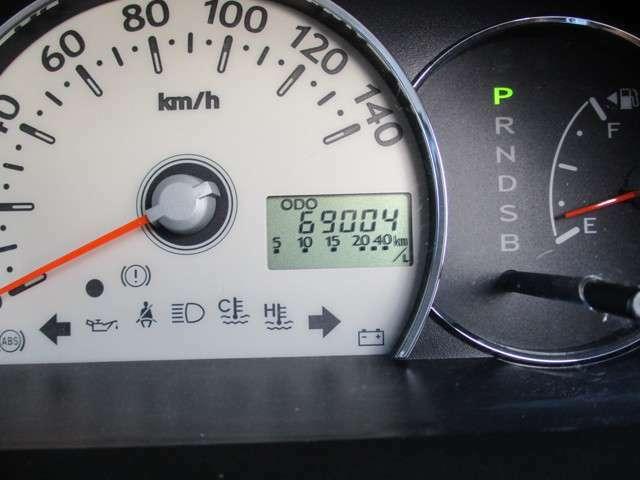 走行69004kmです。