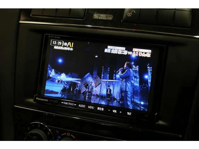 オプションのパナソニック製地上デジタルチューナー内蔵ナビゲーション装備!!Bluetoothオーディオ機能もございます!!