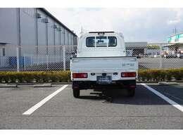 ガードパイプ付き鳥居と、荷台作業灯にゲートプロテクターも装着されています。