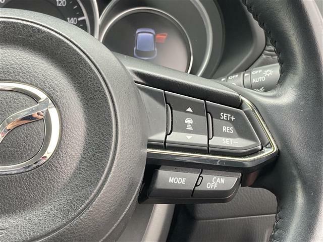 ◆レーダークルーズコントロール◆自動で前の車との車間距離を一定に保ち、速度調整しながら走行します。さらにカーブを認識し、ステアリング操作もアシストします!