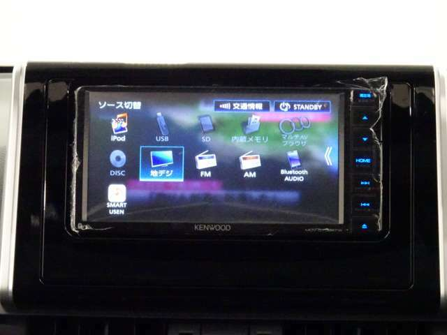 社外品になりますが、KENWOOD製ナビ、ワンセグテレビになります。Bluetooth搭載しております。