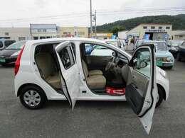 ドアの開閉度も広く乗車も楽です!