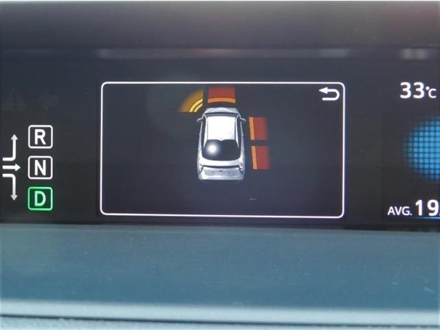 前後12個のセンサーで車両に近づく障害物の存在を知らせてくれる、ペダル踏み間違い防止装置付きインテリジェントクリアランスソナー を装備しています。
