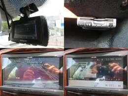今や車を運転する上で必需品な前後録画対応のドライブレコーダー付き♪今や定番の装備となったETCももちろん付いています♪ガイドライン付きカラーバッグカメラ♪フルセグTV走行中も映ります♪