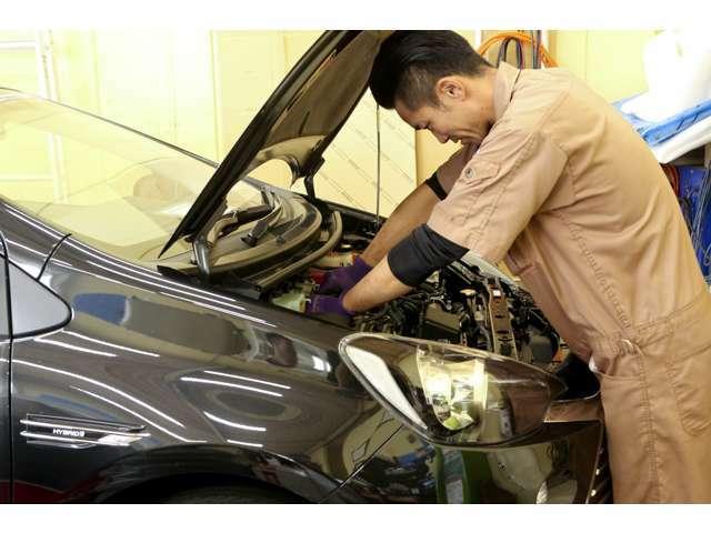 ご納車後も安心の保証付き!自社工場完備だから出来る「安心のカーライフ」をトータルでサポート致します。