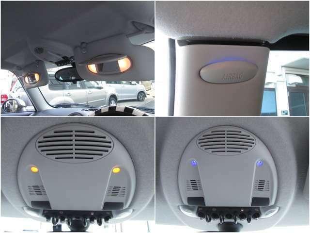両席ランプ付バニティミラー/色変更可能な車内イルミ