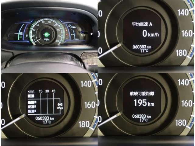 大径のスピードメーターには、マルチインフォメーションディスプレイが付いており、多彩な情報をわかりやすく表示します!