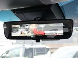 【 MOP デジタルインナーミラー 】後席の同乗者や積載物に影響されることなくクリアな後方視界を確保することが可能です!