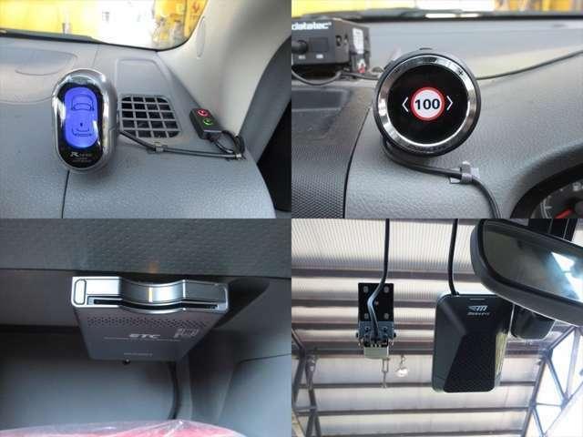 ETCが装着されています。フロントとリアにコーナーセンサーが装着されています。ドライブレコーダー付です。