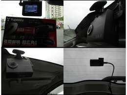 国産のユピテル製の前後2カメラタイプのドラレコ付き!