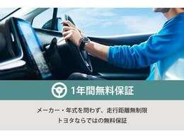 ◆ロングラン保証◆T-Valueの「ロングラン保証」は1年間走行距離無制限!年式やメーカーは問わず、全国約5,000ヶ所のトヨタのお店で保証修理を受けることができます。最長3年の延長保証も有り!