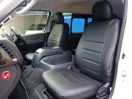 FLEX シートカバー【ホワイトステッチ】質感の良いレザー調のシートカバーです☆