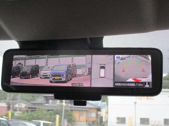 マルチアラウンドモニター付デジタルルームミラー。使い慣れた通常の鏡にもなります