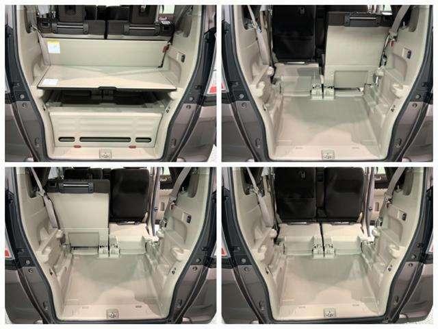 ラゲッジスペースです。リヤシートを前に倒せば荷室を更に広く使えます。