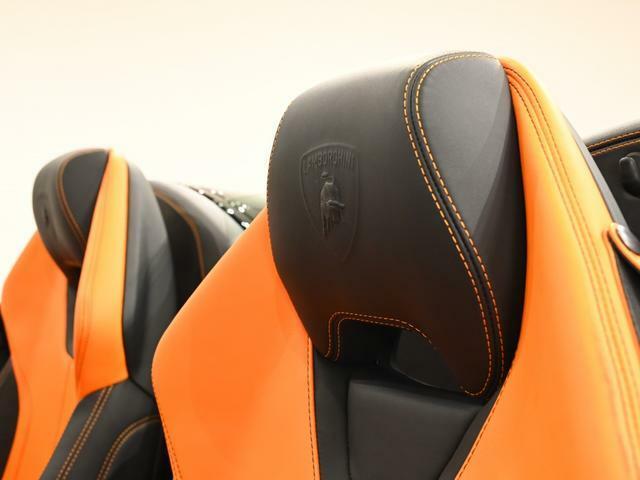 Branding PKGが装着されております。 Lamborghiniのロゴがパンチング加工されております。