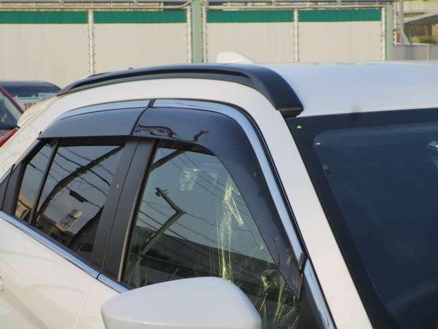 雨の日や駐停車時走行時の車内換気に便利なドアバイザー付きです。