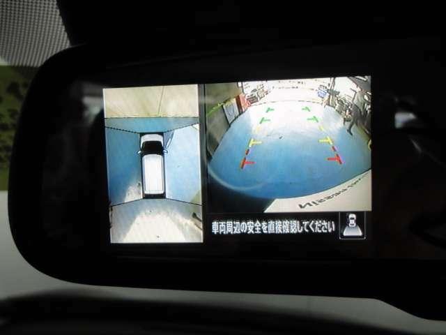 アラウンドビューモニター付きなので全周囲を確認しながら安全に駐車する事ができます。