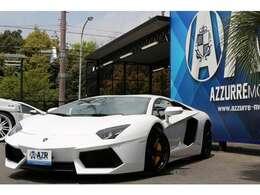 2012y  ランボルギーニ アヴェンタドール 正規ディーラー車 ガラスエンジンフード シートヒーター 電動シート コーナーセンサー 純正リフティング T型カーボンエンジンカバー 入庫しました!
