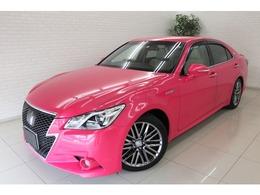 トヨタ クラウンアスリート ハイブリッド 2.5 G リボーン ピンク