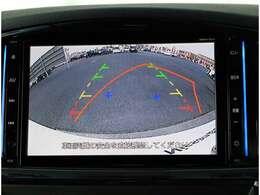 バックモニター!ステアリング操作に連動した予想進路線表示で駐車時にも安心です!