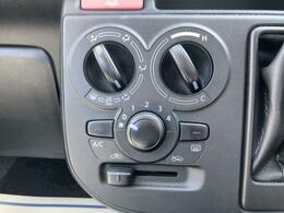 ◇マニュアルエアコン シンプルな操作で使いやすい、マニュアルタイプのダイヤル式エアコンです。