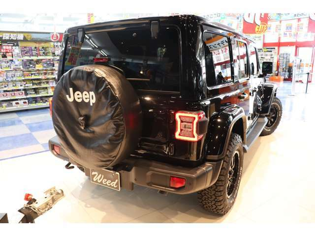 背面タイヤに追加のアルミホイールを装着することも可能です!(オプション)