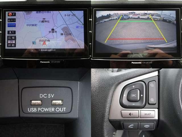 地デジ&バックカメラ付純正SDナビ&CD&MP3&DVDで、SDに録音が出来、BTオーディオで色々なポータブル機器にも対応し、ハンズフリーフォン&ステアリングオーディオスイッチ&充電用USB端子付です。