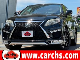 レクサス RXハイブリッド 450h バージョンL 4WD スピンドル 社外20AW SR 黒革 後席モニター