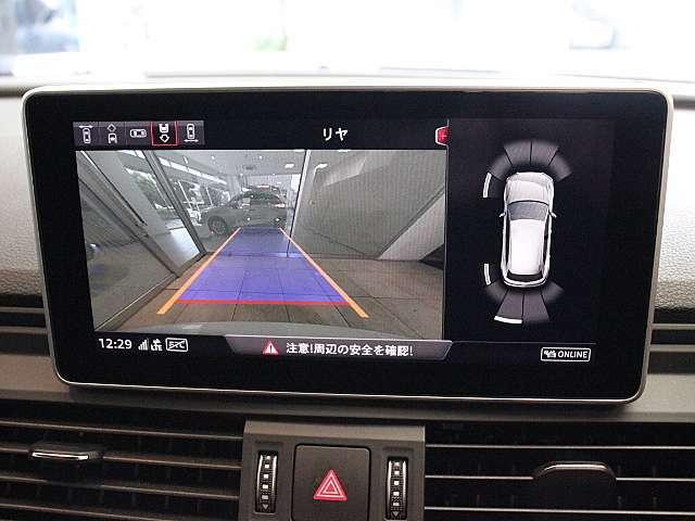 MMIナビゲーションシステムを搭載。もちろんリヤビューカメラとクリアランスソナーを装備しています。