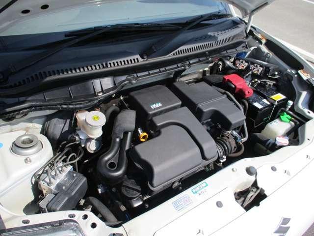 エンジン快調です!このエンジンは、10万キロ毎の交換が不要のタイミングチェーン式エンジンです。余分なメンテナンス費用が不要です!