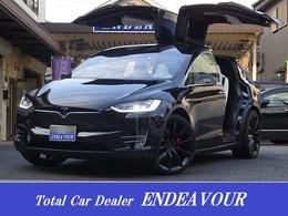 テスラ モデルX P100D 新車保証 6人 白革 新車保証 6人乗り 白革 22AW ドラレコ