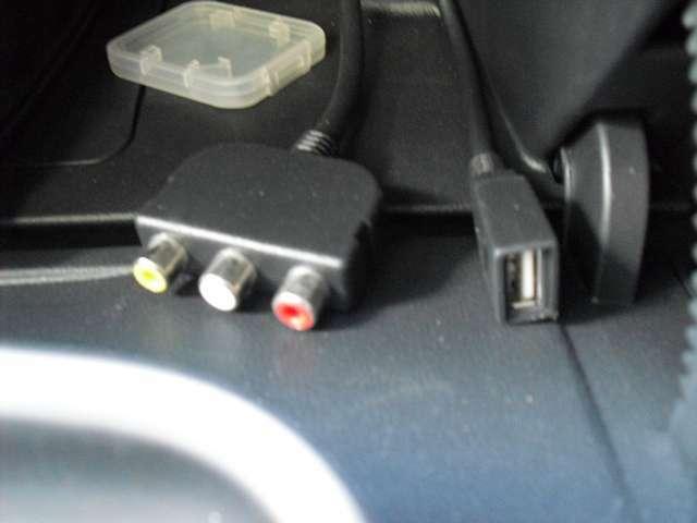 USB&外部入力端子が装備しております。