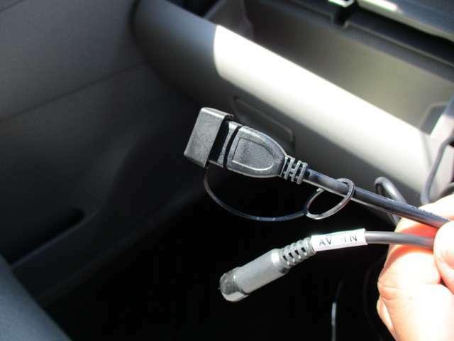 USBと外部入力端子