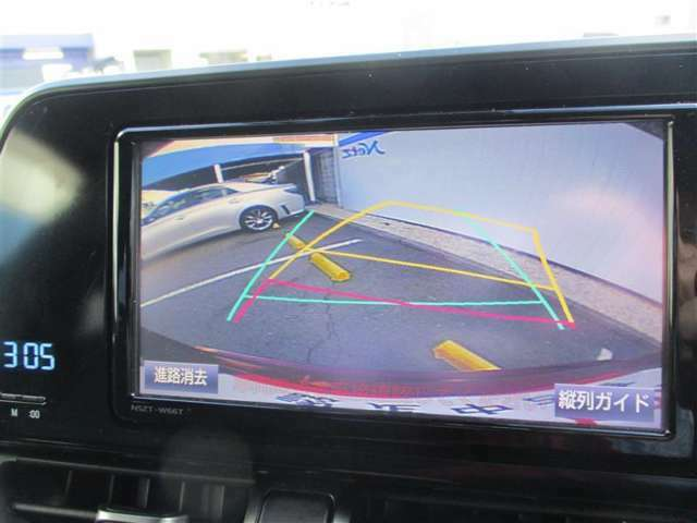 バックカメラ付きで楽々駐車!