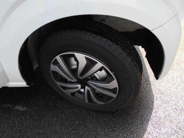 タイヤの残り溝はしっかりありますよ。