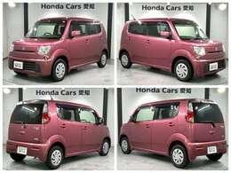 社外HDDナビ ETC スマートキー ベンチシート装備のスズキのピンク色のMRワゴン エコX入庫しました。