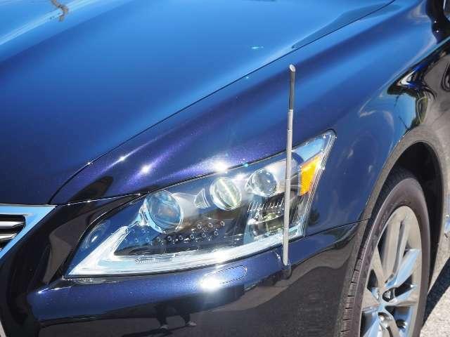 フェンダーランプ・・ブルーLEDの灯りが運転席方向だけに点灯。(電動格納)