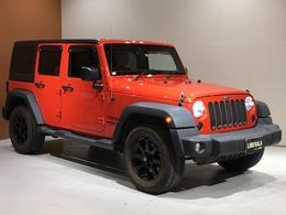 ジープ ラングラー アンリミテッド サンセット オレンジ 4WD 限定100台 社外メモリナビ オートクルコン