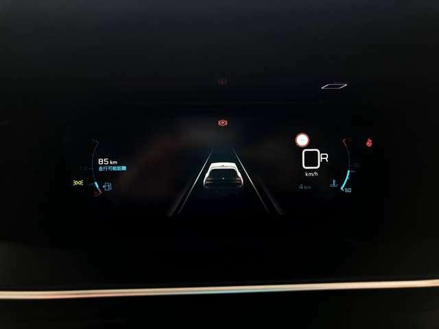 前方センサーが反応し前方車との間隔を教えてくれます。