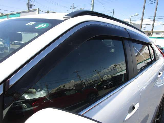 雨の日や駐停車走行時の車内換気に便利なドアバイザー付きです。