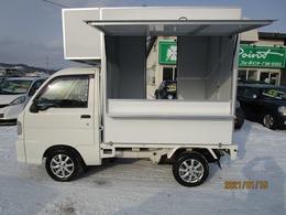 ダイハツ ハイゼットトラック 4WD キッチンカー仕様 換気扇 外部コンセント HDDナビ