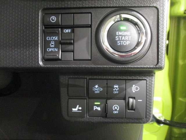 操作しやすいスイッチ類の配列です。プッシュボタンスタートを採用。